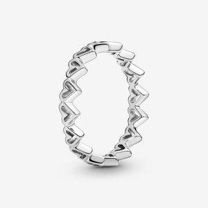 Pandora Freehand Hearts Ring
